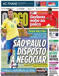 capa Jornal O Jogo de 14 julho 2018