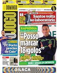 capa Jornal O Jogo de 14 outubro 2018