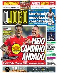 capa Jornal O Jogo de 15 agosto 2018