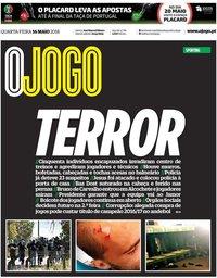 capa Jornal O Jogo de 16 maio 2018