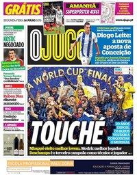 capa Jornal O Jogo de 16 julho 2018