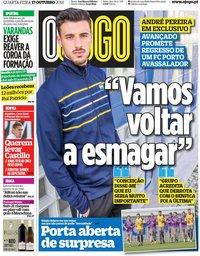 capa Jornal O Jogo de 17 outubro 2018