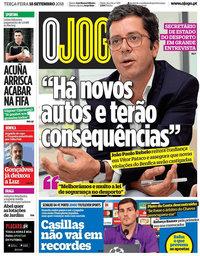 capa Jornal O Jogo de 18 setembro 2018