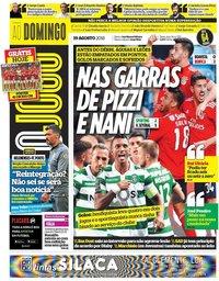 capa Jornal O Jogo de 19 agosto 2018