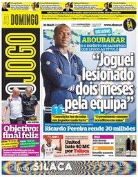 capa Jornal O Jogo de 20 maio 2018