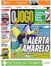 capa Jornal O Jogo de 21 julho 2018