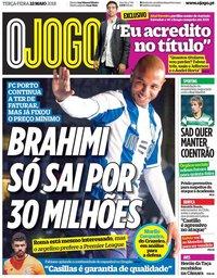capa Jornal O Jogo de 22 maio 2018