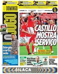 capa Jornal O Jogo de 22 julho 2018