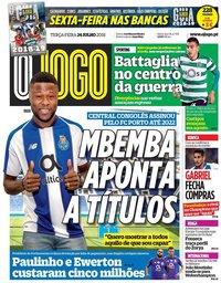capa Jornal O Jogo de 24 julho 2018