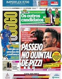 capa Jornal O Jogo de 24 setembro 2018