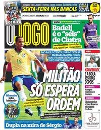 capa Jornal O Jogo de 25 julho 2018