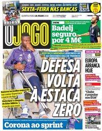 capa Jornal O Jogo de 26 julho 2018