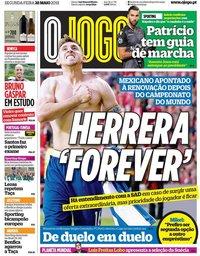 capa Jornal O Jogo de 28 maio 2018