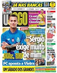 capa Jornal O Jogo de 28 julho 2018