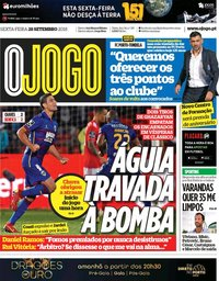 capa Jornal O Jogo de 28 setembro 2018