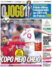 capa Jornal O Jogo de 29 maio 2018