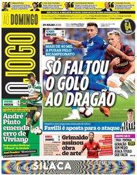 capa Jornal O Jogo de 29 julho 2018