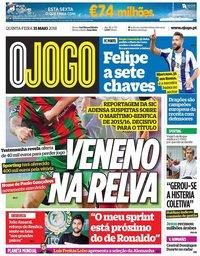 capa Jornal O Jogo de 31 maio 2018