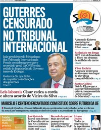 capa Jornal SOL de 7 julho 2018