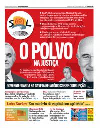 capa Jornal SOL de 9 fevereiro 2018
