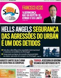 capa Jornal SOL de 14 julho 2018