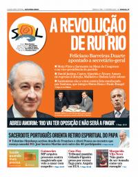 capa Jornal SOL de 17 fevereiro 2018
