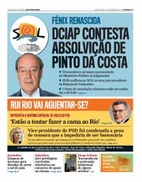 capa Jornal SOL de 24 fevereiro 2018