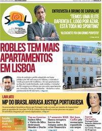 capa Jornal SOL de 28 julho 2018