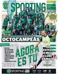 capa Jornal Sporting de 26 julho 2018