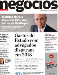 capa Jornal de Negócios de 3 julho 2018