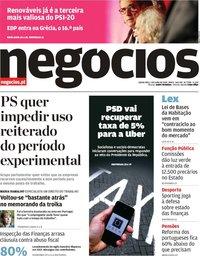 capa Jornal de Negócios de 5 julho 2018
