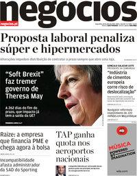 capa Jornal de Negócios de 10 julho 2018