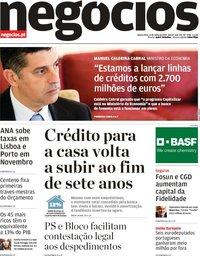 capa Jornal de Negócios de 11 julho 2018