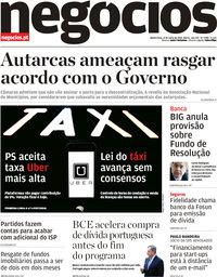 capa Jornal de Negócios de 12 julho 2018