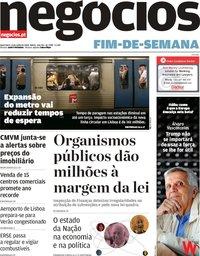 capa Jornal de Negócios de 13 julho 2018