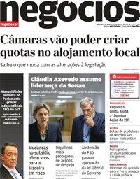 capa Jornal de Negócios de 18 julho 2018