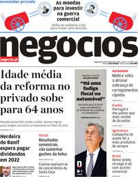 capa Jornal de Negócios de 23 julho 2018