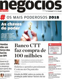 capa Jornal de Negócios de 25 julho 2018