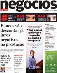 capa Jornal de Negócios de 26 julho 2018