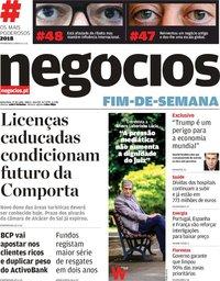 capa Jornal de Negócios de 27 julho 2018