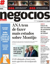 capa Jornal de Negócios de 30 julho 2018