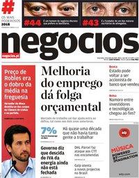 capa Jornal de Negócios de 31 julho 2018
