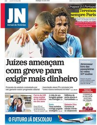 capa Jornal de Notícias de 1 julho 2018