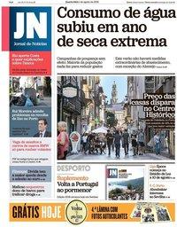 capa Jornal de Notícias de 1 agosto 2018