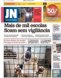 capa Jornal de Notícias de 1 setembro 2018