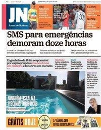 capa Jornal de Notícias de 2 agosto 2018