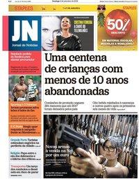 capa Jornal de Notícias de 2 setembro 2018