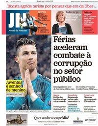 capa Jornal de Notícias de 4 julho 2018