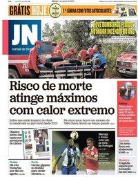 capa Jornal de Notícias de 4 agosto 2018