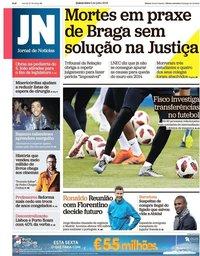 capa Jornal de Notícias de 5 julho 2018